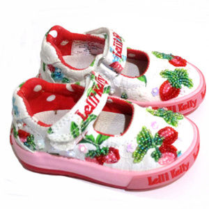 NEW Lelli Kelly Strawberry Mary Janes Shoes 3 Inf